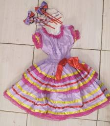 Vestido de quadrilha Infantil Festa Junina OPORTUNIDADE