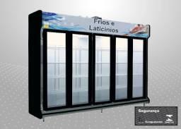 Título do anúncio: Expositor Autosserviço refrigerado Polofrio 5 pts 220v Novo Frete Grátis