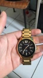 Relógio technos golf dourado (original)