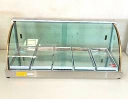 Estufa 5 Bandejas Salgado vidro curvo 110v - Garantia 6 meses (Nova)
