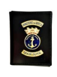 Carteira de couro da Marinha