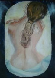 Quadro: Mulher Nua de Costas - Pintura Óleo