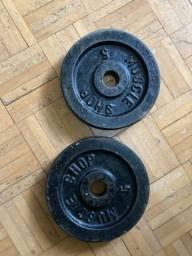 2 anilhas - 5kg cada