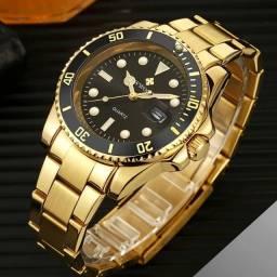 """Título do anúncio: Relógio Masculino Luxuoso Wwoor Original estilo """"Rolex"""" (Apenas 2 unidades)"""