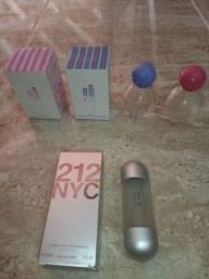 12 vidros de perfume vazios