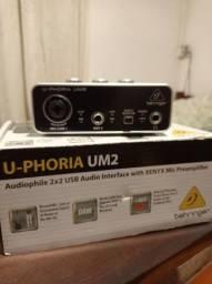 Título do anúncio: Interface de áudio U-Phoria UM2