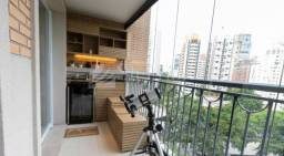 Título do anúncio: Apartamento à venda na região da Vila Nova Conceição, prédio alto padrão totalmente mobili