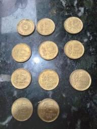 Moedas antigas pesos argentinos 1976