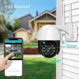 Melhor custo beneficio  Câmera de segurança 1080p ptz wifi câmera 4x zoom digital