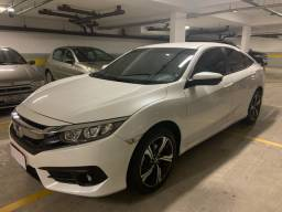 New Civic EX 2017 37 mil km branco perolizado