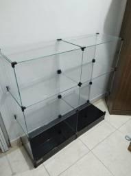 Balcão de vidro novo