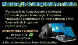 Manutenção de Computadores, Notebooks e Redes Wifi
