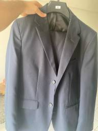 Título do anúncio: Terno cia do terno. Azul marinho. Slim. Tamanho 50.