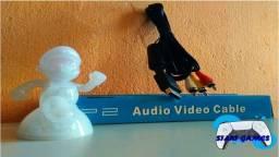Cabo AV (Áudio e Vídeo) RCA para Playstation