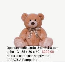 Título do anúncio: Urso de pelúcia gigante da Buba novo