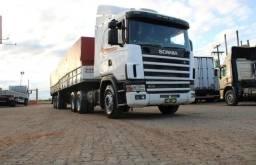 Caminhão Scania 124 R400 6×2 2004 + Carreta graneleira LS 2006/2007