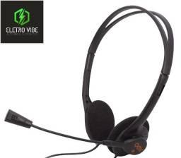 Fone De Ouvido Headset Microfone com Controle Volume