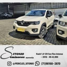 Kwid 1.0 12V Sce Flex Intense  - 2018 - R$ 42.990,00
