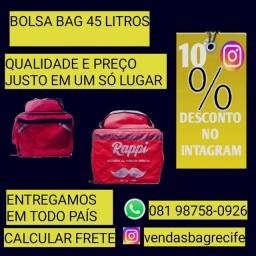 Bag novas zero Recife bag com isopor 45 litros zero