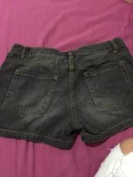 Short Jeans preto
