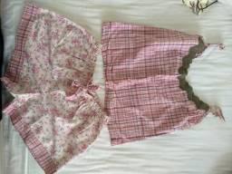 Pijama baby doll tamanho p