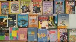 Livros didáticos do ensino fundamental e médo usados