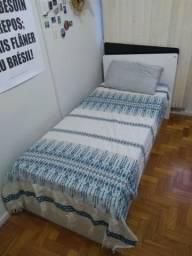 Cama de solteiro com bicama, com dois colchões
