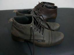 2 pares bota couro número 41