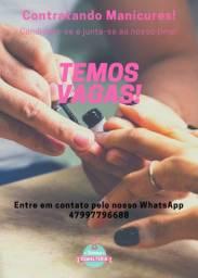 vagas para manicure em Balneário Camboriú!