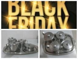 Black Friday - Conjunto em Inox para Chá / Café