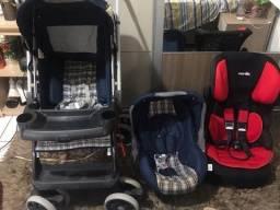 Vendo kit carrinho bebê conforto borigoto+cadeirinha + andador!