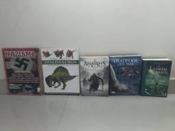5 livros sobre diferentes assuntos