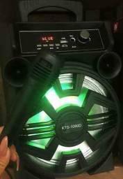 Caixa de Som KTS 1090 com Bluetooth Microfone e Controle