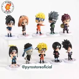 Coleção Naruto - com 10 miniaturas