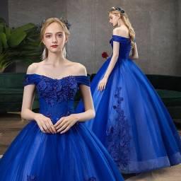 Vestido Princesa deputante azul Royal