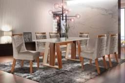 Mesa Deli 6 Cadeiras Atena top luxo 100%MDF