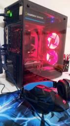 PC GAMER i5-SSD-PLACA DE VÍDEO-MONITOR, TECLADO E MOUSE