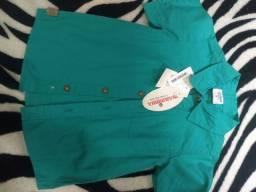 Bermuda jeans e camisa!!