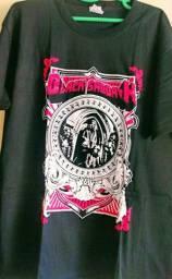 Camisas 100% algodão de bandas de rock clássico