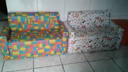 vende-se 4 sofás infantil tamanho de 1m de compremento por 50 centímetros de largura