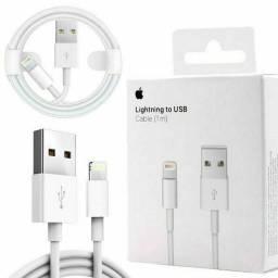 Cabo USB carregador iPhone Apple original 01 ano de garantia (em até 12x vezes)