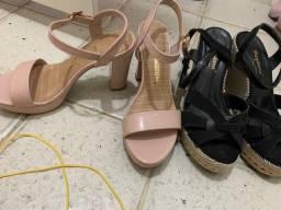 Sandália feminina alta