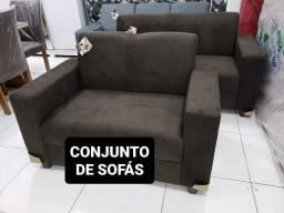 Título do anúncio: CONJUNTO de SOFÁS NOVO 899,00! ENTREGA IMEDIATA!