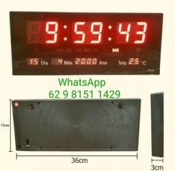 Título do anúncio: Relógio De Parede Led Digital Grande Temperatura 36cm*15cm  R$140 Parcelo em até 10 vezes