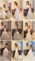 Repassa vestidos de festa e de noiva, cabides, maniquins?