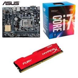 kit upgrade core i7 7700 (setima geracao) placa mae asus memoria ddr4 8gb