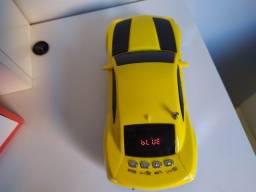 Título do anúncio: Caixinha de Som Camaro Amarelo Top - Bluetooth USB Sd Rádio