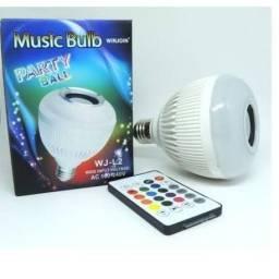 Lâmpada Bulbo Musica RGB c/controle