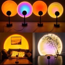 Título do anúncio: Luminária Sunset Projetor Atmosfera Criativa Led Luz Noturna
