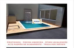 Casa com Piscina - 3  Dormitórios - Piratininga